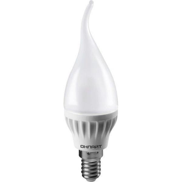 Лампа светодиодная ОНЛАЙТ ОLL-FC37-6-230-2.7K-E14-FR (10/100) купить оптом и в розницу