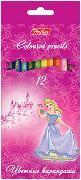 Цв.каранд.12цв Hatber Принцессы на розовом к/у заточ. купить оптом и в розницу