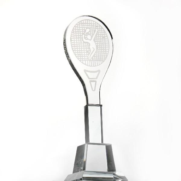 Кубок из стекла ″Теннис, ракетка″ (27см) купить оптом и в розницу