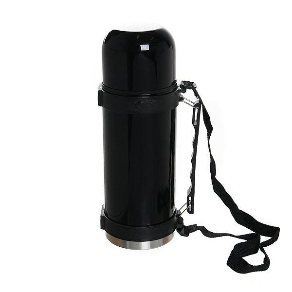 Термос с металлической колбой 1000 мл черный купить оптом и в розницу