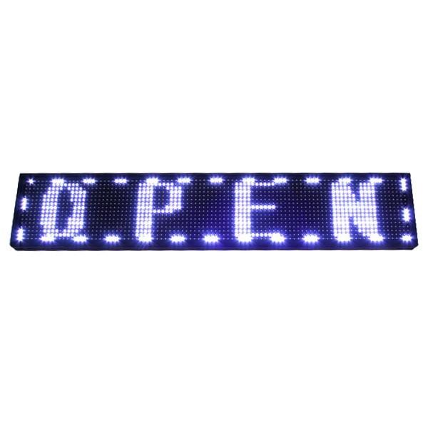 Световое табло LED 100*20см ″Бегущая строка″ 1 цвет ″Серебро″ программируемая купить оптом и в розницу