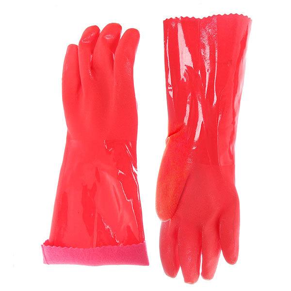 Перчатки хозяйственные флокированные удлиненная манжета (цена за 1 пару)) купить оптом и в розницу