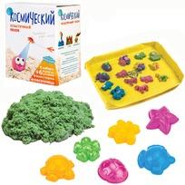 Набор ДТ Космический песок Зеленый 1 кг. песочница и формочки кор. купить оптом и в розницу