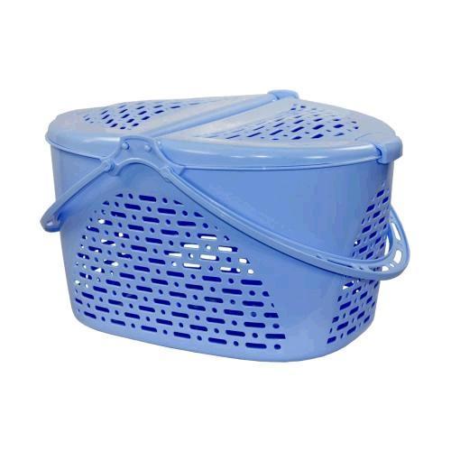 Корзина для пикника (390х290х230)(голубой)(уп.7)(Октябрьский) купить оптом и в розницу