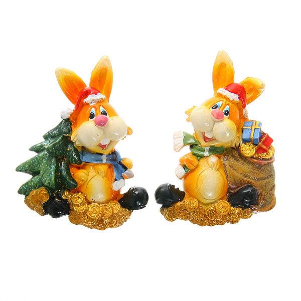 Магнит из полистоуна ″Кролик с подарками″ купить оптом и в розницу