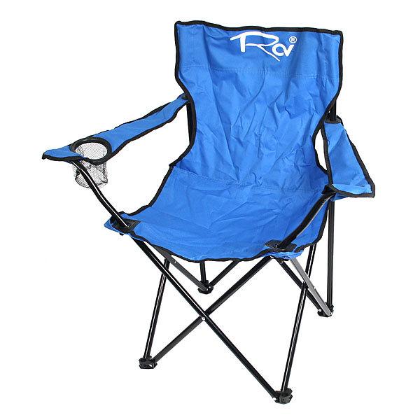 Кресло (стул) туристическое складное с подлокотниками 50*50*80см до 100кг, цвет синий, купить оптом и в розницу