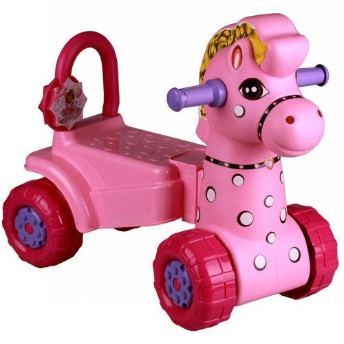 Каталка детская пл Лошадка розовая (Октябрьский) *2 купить оптом и в розницу
