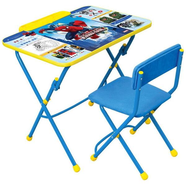 Набор детской мебели ″Дисней.Человек-паук″ складной с пеналом, мягкий стул Д3Ч купить оптом и в розницу