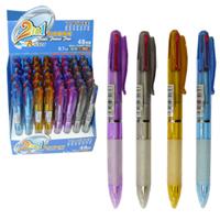 Ручка шар.авт.Tenfon двухцветн. 0,7мм син/красн. ассорти купить оптом и в розницу