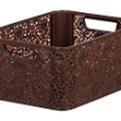 Корзинка кружева М (код 5711) коричневый 390 x 290 x 175  *8 купить оптом и в розницу