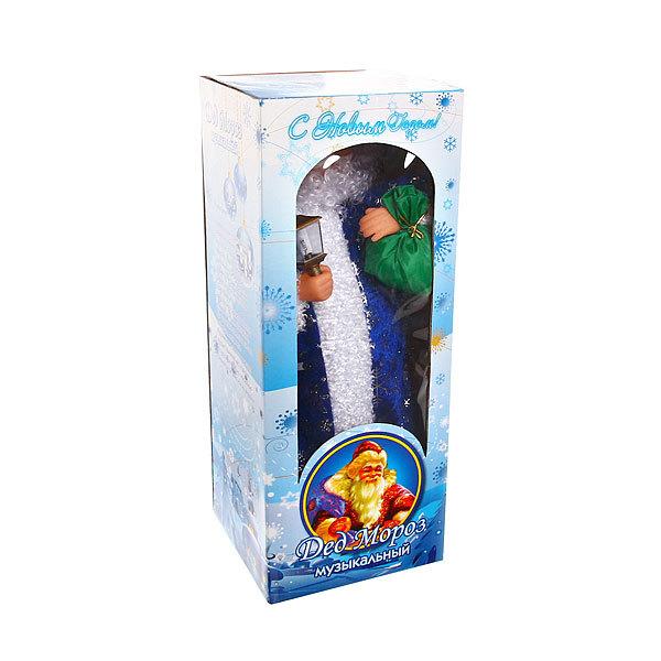Дед Мороз музыкальный 45см с фонариком купить оптом и в розницу