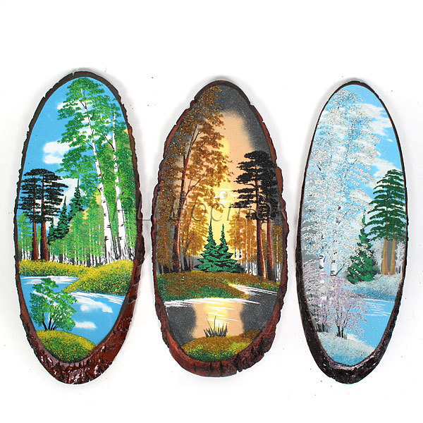 Панно из натурального камня на срезе дерева 55-59 см купить оптом и в розницу
