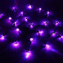 Гирлянда светодиодная 5м,22 ламп LED, Ягода на листьях Красная,8 режимов, черн.провод купить оптом и в розницу
