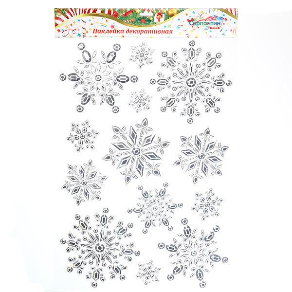 Наклейка на стекло Снежинки 48*29см CKD1003 купить оптом и в розницу