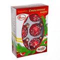 Новогодние шары ″Рубин Цветок перламутр″ 6см (набор 6шт.) купить оптом и в розницу
