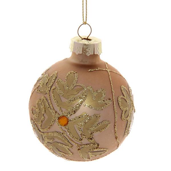 Новогодние шары ″Золотая Снежинка″ 6см (набор 6шт.) п/у купить оптом и в розницу