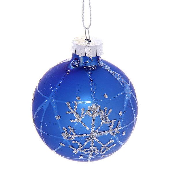 Новогодние шары ″Топаз Снежинка″ 6см (набор 6шт.) купить оптом и в розницу