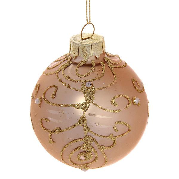 Новогодние шары ″Золотые Жемчужинки″ 7см (набор 6шт.) купить оптом и в розницу