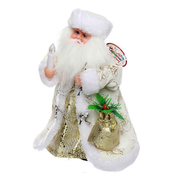 Дед Мороз музыкальный 30см со свечой купить оптом и в розницу
