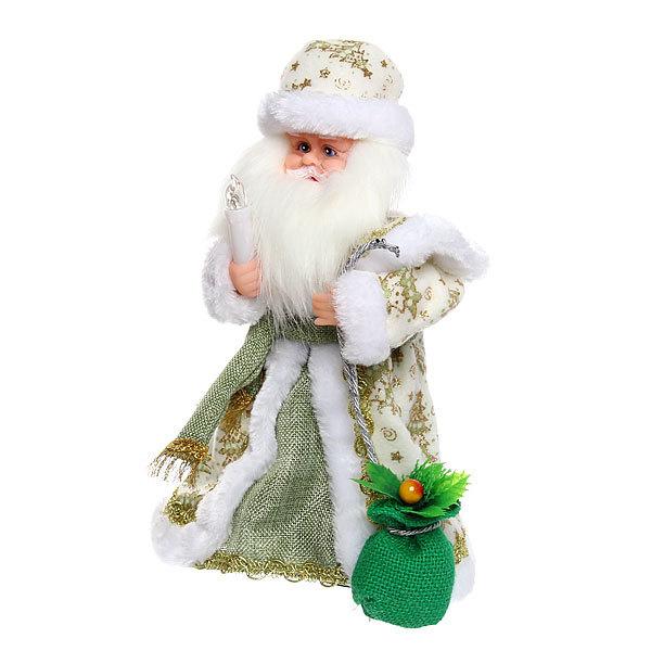 Дед Мороз музыкальный 30см со свечой и мешком подарков купить оптом и в розницу
