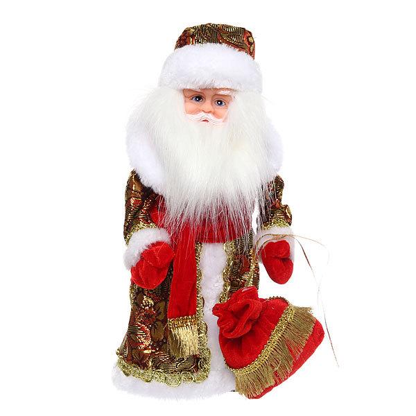 Дед Мороз музыкальный 30см с мешком купить оптом и в розницу