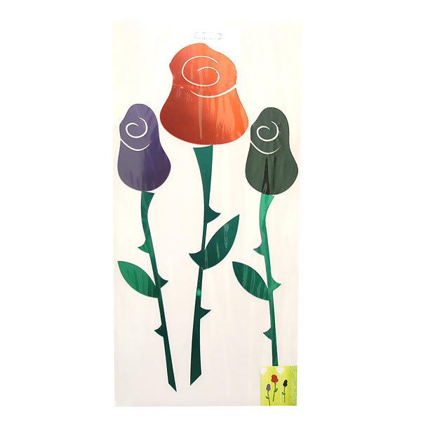 Наклейка интерьерная зеркальная 60*40см Розы 5135 3 шт 1 цвет купить оптом и в розницу