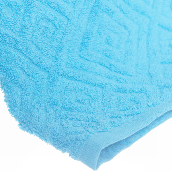 Махровое полотенце 70*140см cветлая лазурь жаккард ЖК140-2-005-005 купить оптом и в розницу