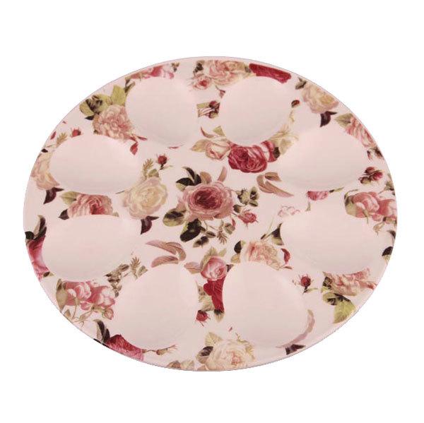 Тарелка для яиц 20см цветы купить оптом и в розницу