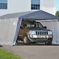 Гараж-в-Коробке 3,7x6,1x2,4м ShelterLogic, скатная крыша, серый тент купить оптом и в розницу