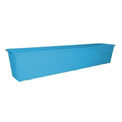 Ящик балконный 80 см светло-синий *20 купить оптом и в розницу
