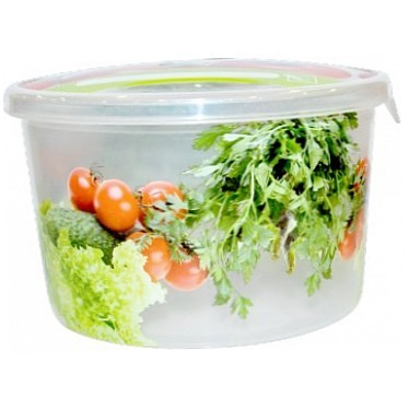 """Емкость для продуктов """"Браво"""" Овощи круглая 0,5 *50 купить оптом и в розницу"""