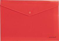 Папка-конверт с кноп. А4 180мк Erich Krause Envelope непрозр., красная купить оптом и в розницу