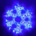 Световое панно, дюралайт, 35см ″Снежинка″ синяя купить оптом и в розницу
