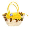 Сумка плетеная женская ″Лакиша″ цветы 42*22*10 349-4 купить оптом и в розницу