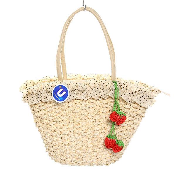Сумка плетеная женская ″Лакиша″ ягодки 24*23*15 349-5 купить оптом и в розницу