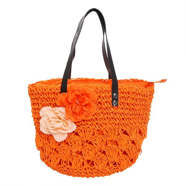 Сумка плетеная женская ″Лакиша″, цвет оранжевый 31*44*20 купить оптом и в розницу