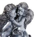 Статуэтка гипсовая ″Ангелы пара″ (серебро), 37см. купить оптом и в розницу