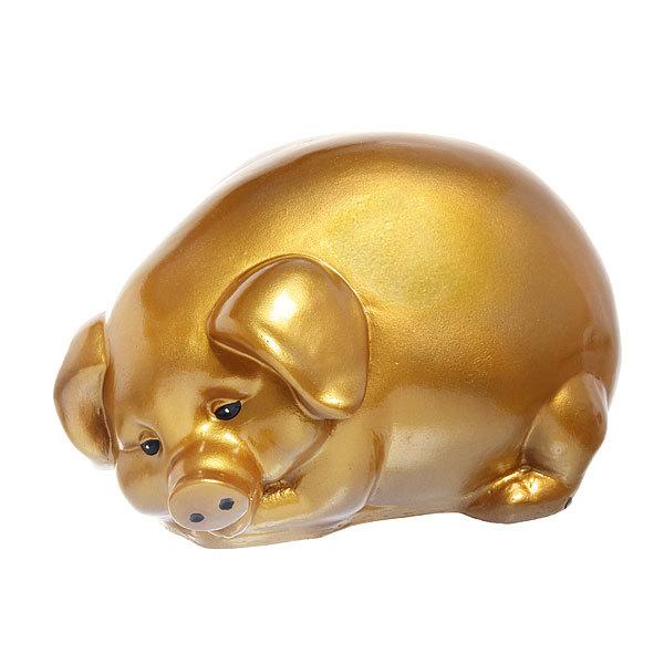 Копилка Свинка 20*34см золото купить оптом и в розницу