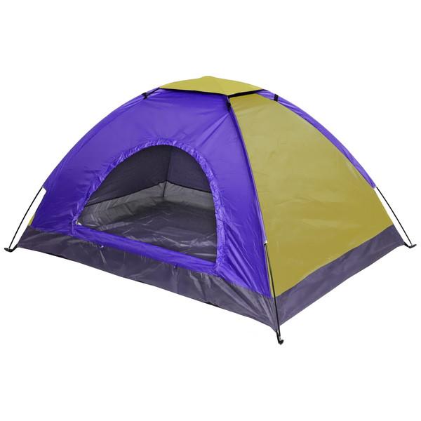 Палатка туристическая 2-местная 1-слойная ТУРИСТ МАСТЕР, цвет желто-сиреневый, 200*145*100 купить оптом и в розницу