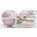 Новогодние шары ″Морозные узоры на розовом″ 8см (набор 2шт.) купить оптом и в розницу