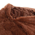 Плед 200*230см искусственный мех длинный ворс шоколадный 2-х сторонний в сумке купить оптом и в розницу