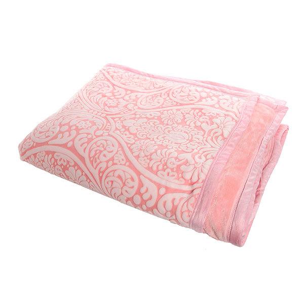 Покрывало 200*230см ″Роскошь″ 2-х сторонний в сумке розовый купить оптом и в розницу