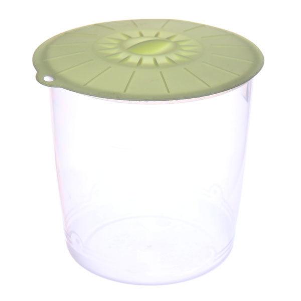 Контейнер пластиковый пищевой 1,6л, многофункциональный с силиконовой крышкой купить оптом и в розницу