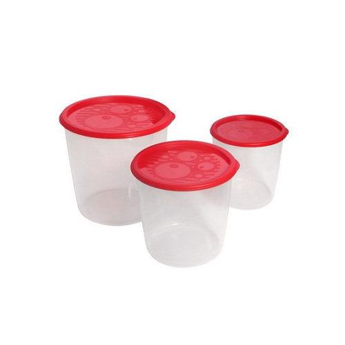 Набор контейнеров 3шт (0,95л,1,6л, 2,75л) круглый высокий купить оптом и в розницу