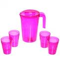 Набор питьевой 5 предметов ″Люмици″: кувшин 1,8л; 4 стакана 0,3л розовый прозрачный С576РЗП купить оптом и в розницу