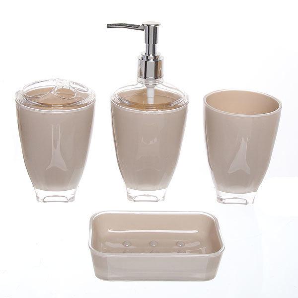 Набор для ванной из 4-х предметов 6424 бежевый купить оптом и в розницу