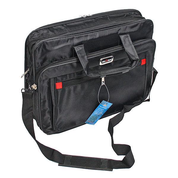 Сумка-портфель мужская через плечо 1859 44*35 см 5 отделений купить оптом и в розницу
