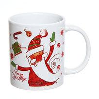 Кружка керамическая 300мл ″Дед Мороз с подарками″ купить оптом и в розницу