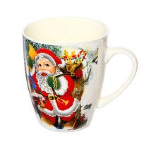 Кружка керамическая 300мл ″Дед Мороз с рюкзаком подарков″ купить оптом и в розницу