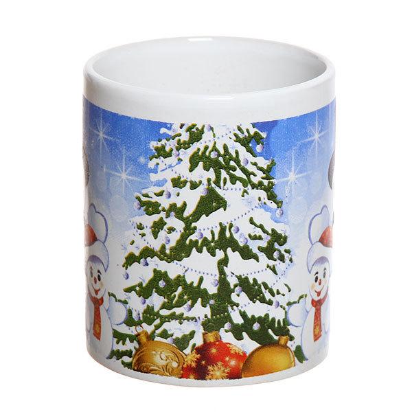 Кружка керамическая 300мл ″Снеговики″ купить оптом и в розницу